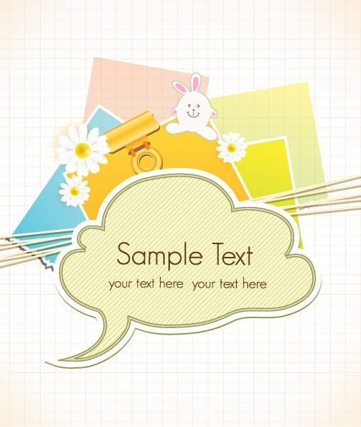 vector scrapbook elements with speech bubble Vector Illustrations vector
