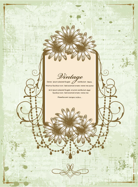 frame with grunge vector illustration Vector Illustrations old