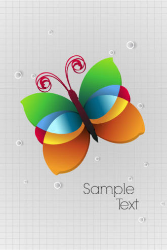 vector abstract background with buttlerfly Vector Illustrations vector