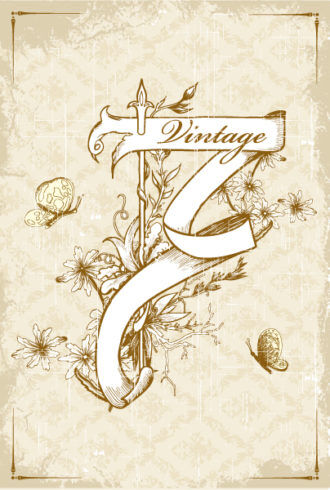 vector ribbon with grunge Vector Illustrations old