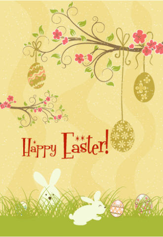 spring background with eggs vector illustration Vector Illustrations floral