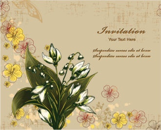 floral vector background Vector Illustrations floral