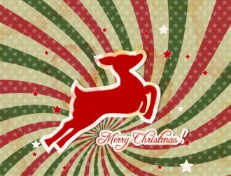 Christmas illustration with deer Vector Illustrations vector
