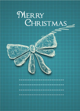 Christmas vector illustration with  bow Vector Illustrations old
