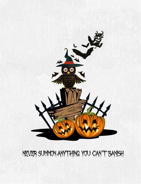 halloween background with owl vector illustration Vector Illustrations vector