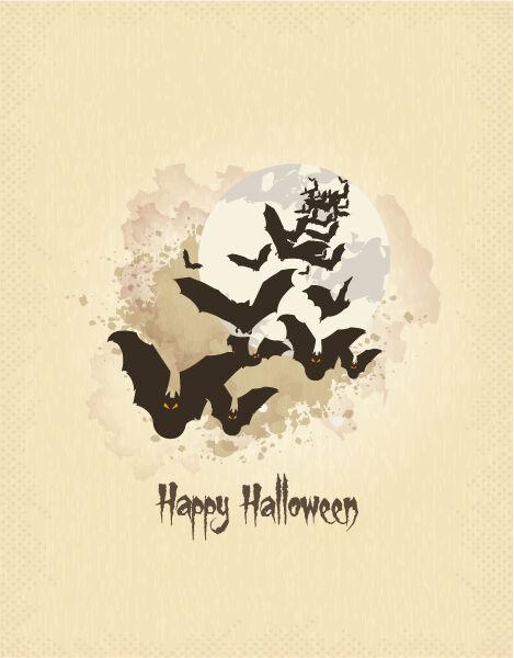 halloween background with bats vector illustration Vector Illustrations vector