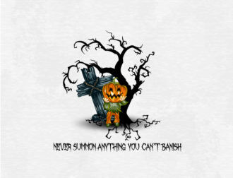 halloween background with pumpkin vector illustration Vector Illustrations vector