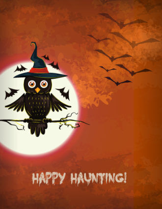 vector halloween background with owl Vector Illustrations vector