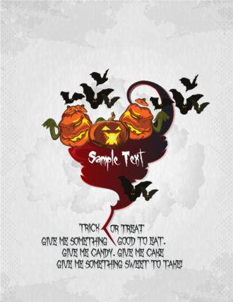 vector halloween background with pumpkin Vector Illustrations vector
