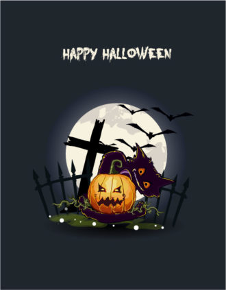 vector halloween background with pumpkin Vector Illustrations vector