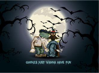 vector halloween background with bats Vector Illustrations vector