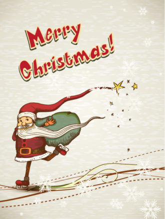 Christmas illustration with santa Vector Illustrations vector