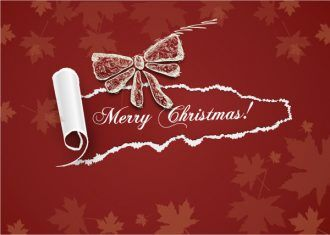 Christmas illustration with torn paper Vector Illustrations vector