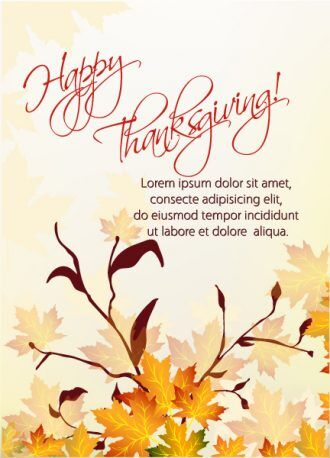 vector thanksgiving background with floral Vector Illustrations floral