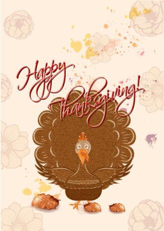 happy thanksgiving day vector Vector Illustrations vector