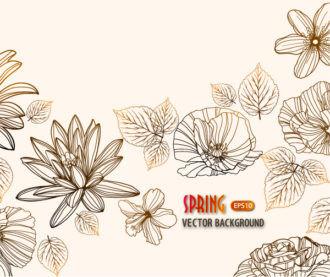 floral vector background Vector Illustrations old