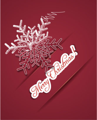 Christmas illustration with snow flake Vector Illustrations old