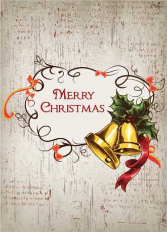 christmas vector illustration with frame and bell Vector Illustrations vector