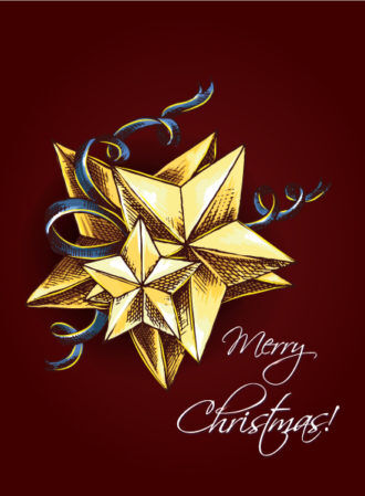 christmas vector illustration  with star Vector Illustrations vector