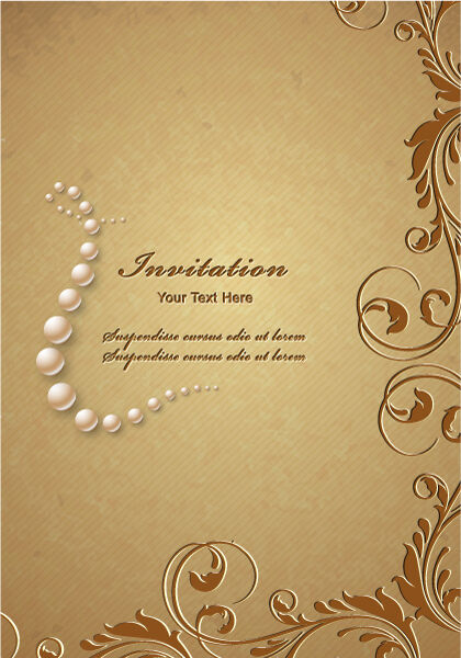floral vector background illustration Vector Illustrations pearl