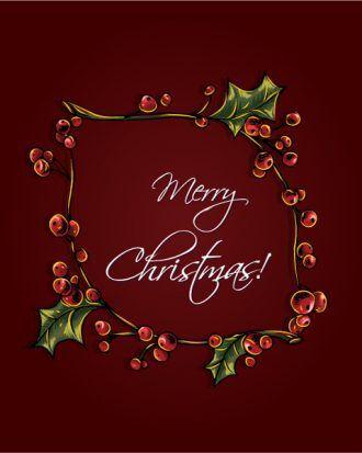 christmas vector illustration with Christmas frame Vector Illustrations vector