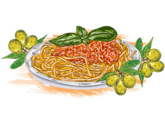 vector spaghetti whith tomato sauce Vector Illustrations vector