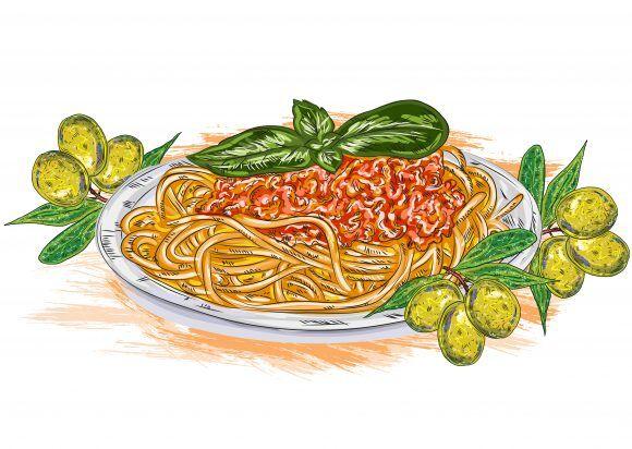 vector spaghetti whith tomato sauce Vector Illustrations vector