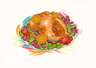 cooked chicken vector  illustration Vector Illustrations vector