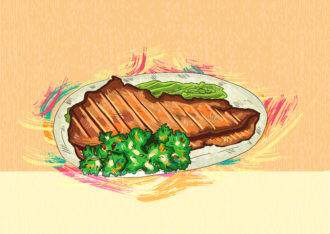 cooked meat vector  illustration Vector Illustrations vector