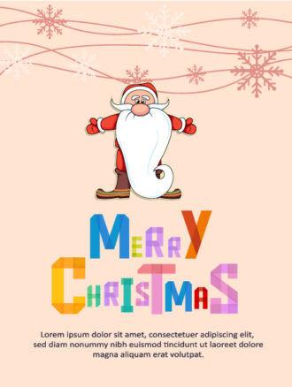 Christmas Vector illustration santa Vector Illustrations star