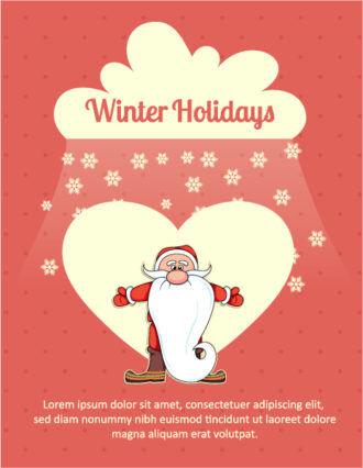 Christmas Vector illustration with  snowman Vector Illustrations star