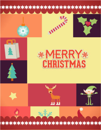Christmas Vector illustration with christmas elements Vector Illustrations star