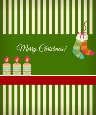 Christmas Vector illustration with socks ans christmas candles Vector Illustrations vector