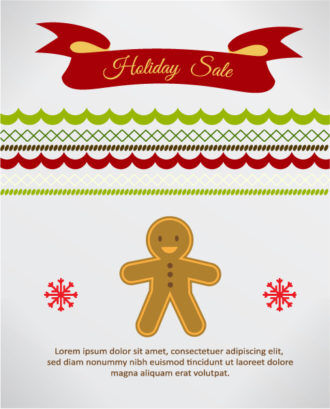 Christmas Vector illustration with candy and ribbon Vector Illustrations vector