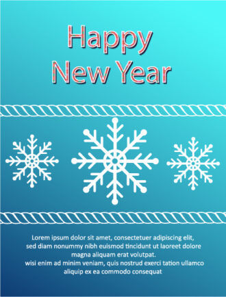 Happy New Year  Vector illustration with snowflake Vector Illustrations old