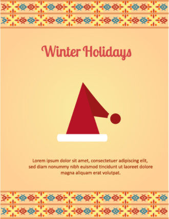 Christmas Vector illustration with santa hat Vector Illustrations old