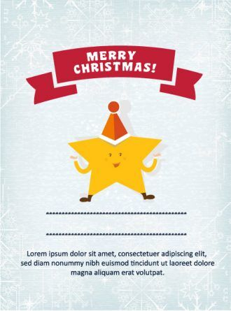 Christmas Vector illustration with star Vector Illustrations star
