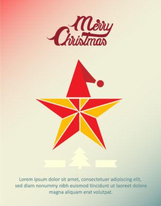 Christmas Vector illustration  with star Vector Illustrations tree