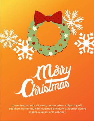 Christmas Vector illustration with Christmas wreath Vector Illustrations vector