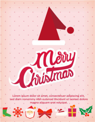 Christmas Vector illustration with  christmas hat Vector Illustrations vector