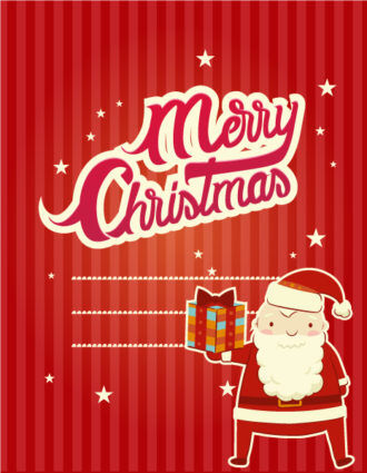 Christmas Vector illustration with  santa Vector Illustrations vector