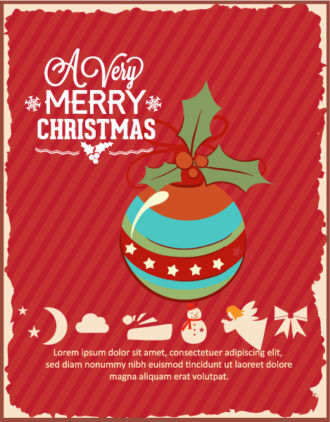 Christmas Vector illustration with globe Vector Illustrations star
