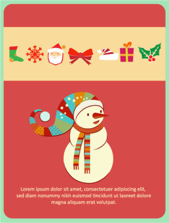 Christmas Vector illustration with snowman, Vector Illustrations vector