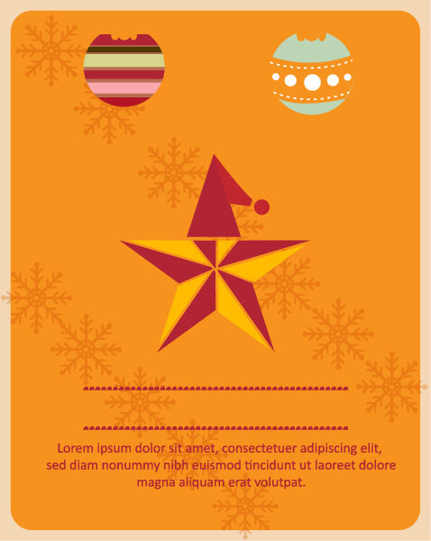 Christmas Vector illustration with christmas star Vector Illustrations star
