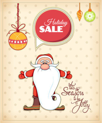Christmas Vector illustration with santa, Vector Illustrations vector