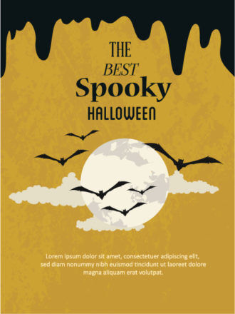 Halloween Vector illustration with bats and moon Vector Illustrations vector
