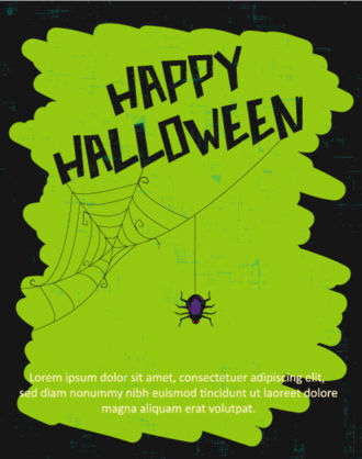 Halloween Vector illustration with spider Vector Illustrations star