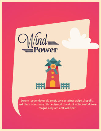 Vector illustration with  windmill Vector Illustrations vector