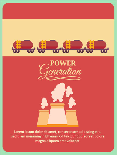Vector illustration with  factory Vector Illustrations vector