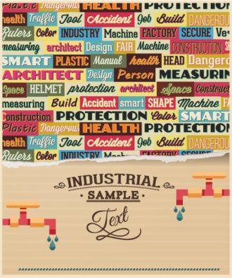 Vector illustration with industrial typography elements Vector Illustrations vector